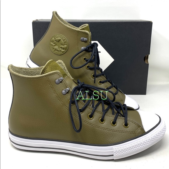 Converse Ctas High Leather Olive Men's Sneakers